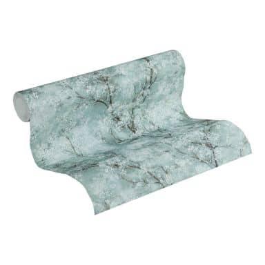 Livingwalls Papier peint intissé New Walls Cosy & Relax floral bleu, vert, blanc
