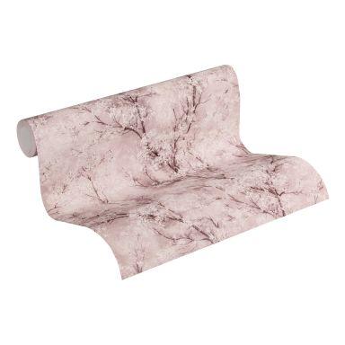 Livingwalls Vliestapete New Walls Cosy & Relax Blumentapete mit Kirschblüten braun, rosa, weiß