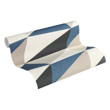 A.S. Création Scandinavian 2 Papier peint géométrique - Bleu, Gris