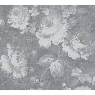 A.S. Création Vliestapete Secret Garden Blumentapete mit Rosen grau