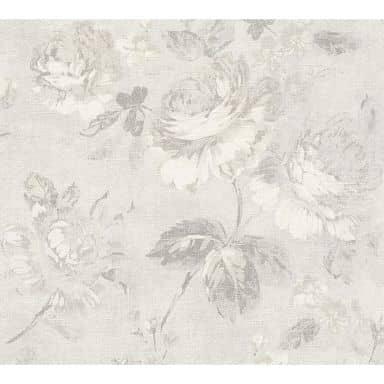 A.S. Création Vliestapete Secret Garden Blumentapete mit Rosen grau, weiß