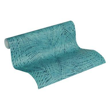 A.S. Création Vliestapete Sumatra Palmentapete blau, grün