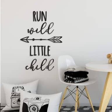 Décoration en verre acrylique -  Run wild little child