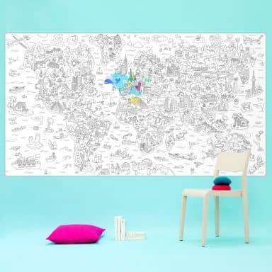 XXL Colouring Poster World Map