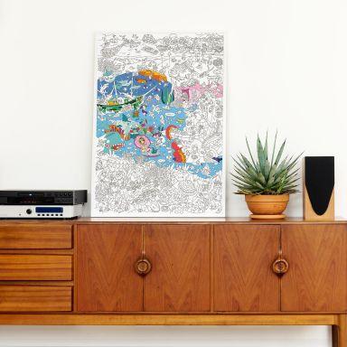 Kleurposter Onderwaterwereld