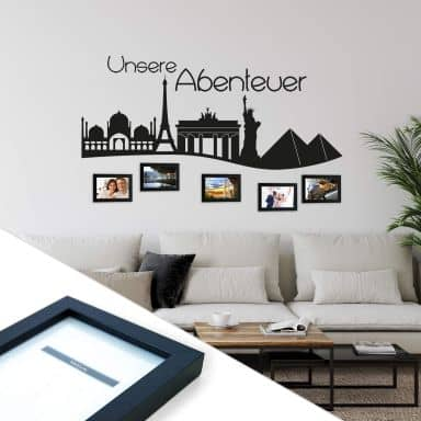 Our adventures incl. 5 Photo Frames Wall sticker