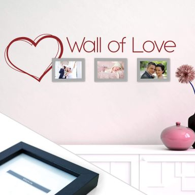 Wall of Love Wall sticker incl. 3 Picture Frames