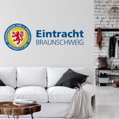 Wandtattoo Eintracht Braunschweig Logo mit Schriftzug