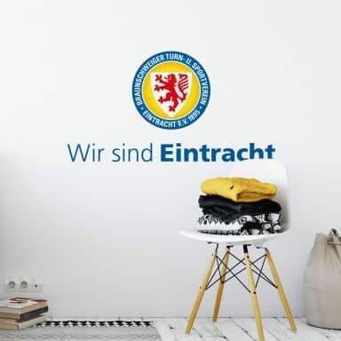 Wandtattoo Eintracht Braunschweig Wir sind Eintracht