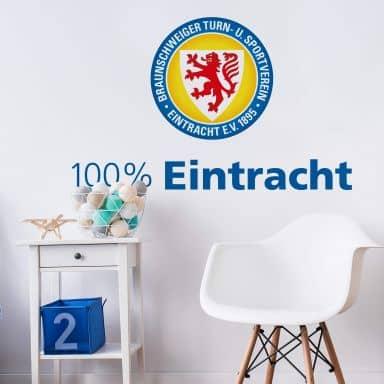 Wandtattoo Eintracht Braunschweig 100 Prozent