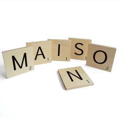 Lettere in legno - Maison