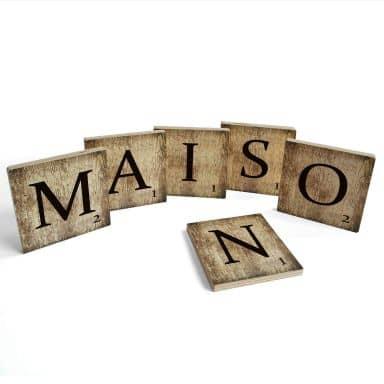 Lettere legno - Maison - Vintage