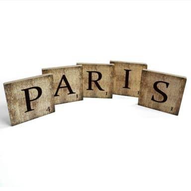 Lettres décoratives en bois - Paris - Vintage