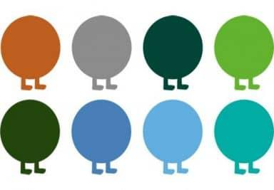 Sticker mural - Extension Chenille Multicolore Set 2
