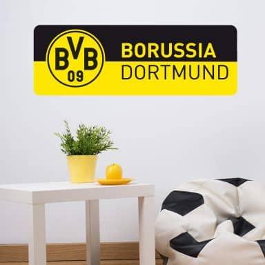 Muursticker BVB Banner zwart/geel