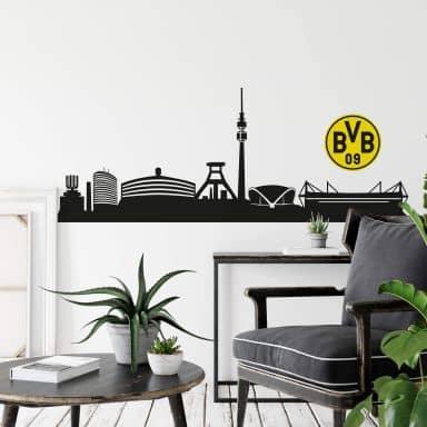 Wall sticker BVB Skyline with logo
