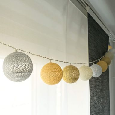 Cotton Ball Lights LED-Lichterkette gelb 20-teilig