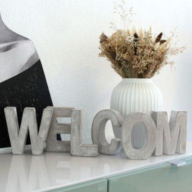 Lettres décoratives en béton WELCOME