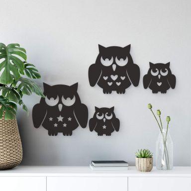 Decorative Owls Family