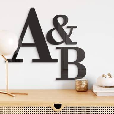 Acrylbuchstaben - Schriftart Bodoni