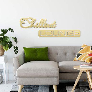 Alu-Dibond Buchstaben - Goldeffekt - Chillout Lounge