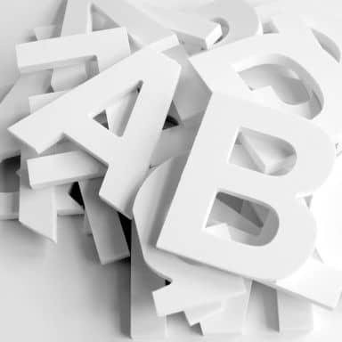 10 cm Deco Letters 3D letter