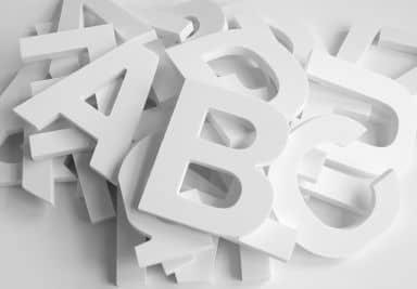 Lettres décoratives 3D - Alphabet (26 pièces)