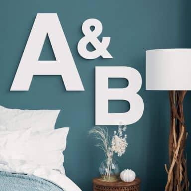 Dekorative bogstaver til at hænge - Swiss