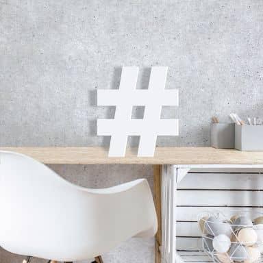Lettre décorative - 3D Hashtag