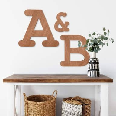 Wooden Letters Mahogany Courier