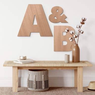 Lettere in legno - Futura