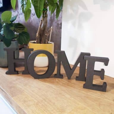 Lettres décoratives en bois MDF - Home 2