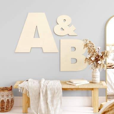 Holzbuchstaben Pappel - Einzelbuchstaben Futura