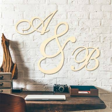Decorative Letters - Calligraphic Style - Poplar