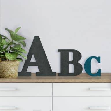 Lettres décoratives en bois MDF - Bodoni