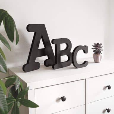 Lettres décoratives en bois MDF - Alphabet - Courrier