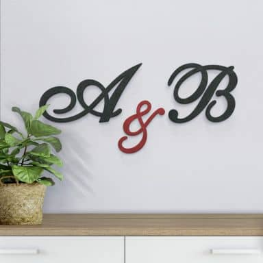 Decorative Letters - Calligraphic Style - MDF