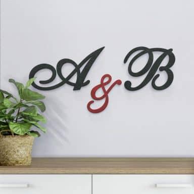 MDF-Holzbuchstaben - Einzelbuchstaben verschnörkelt