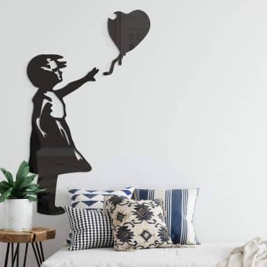 Acryldeko Banksy - Girl with the red ballon (2-teilig)