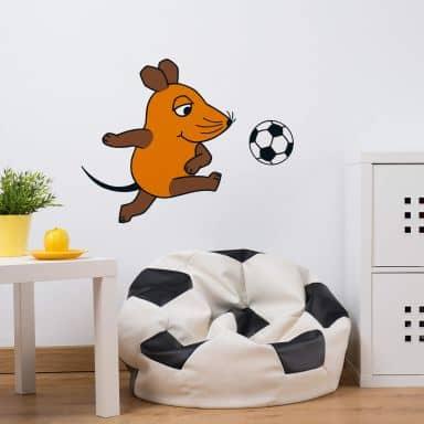 Wandtattoo Die Maus spielt Fußball