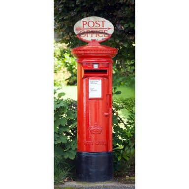 Türtapete Postbox - 86x200 cm