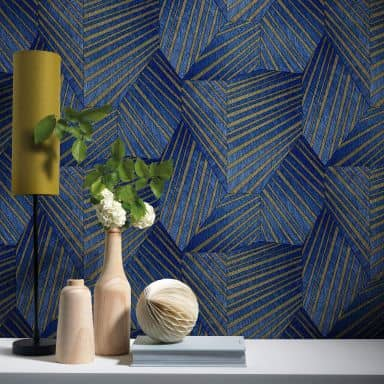 ELLE Decoration Vliestapete blau