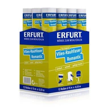 Erfurt Vlies-Rauhfaser Tapete Romantic Karton (12 Rollen)