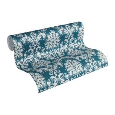 Esprit Vliestapete Eccentric Luxury Barocktapete mit Ornamenten blau, grau, metallic