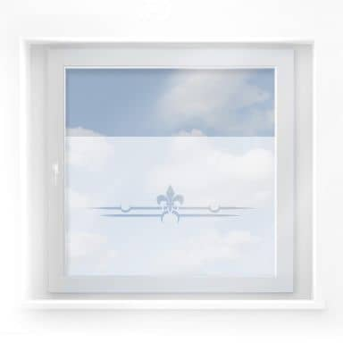 Decoro per finestra - Bordatura vintage in negativo