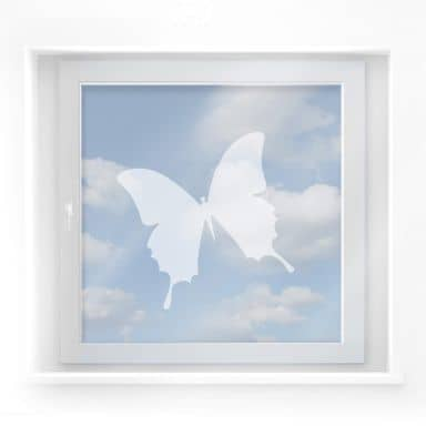 Frosted Glass - Butterfly