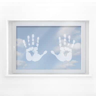 Fensterdekor Handabdruck