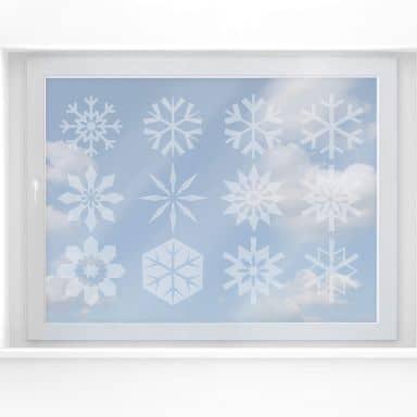 Fensterdekor Schneeflocken