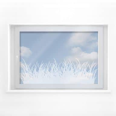 Fensterdekor Graslandschaft
