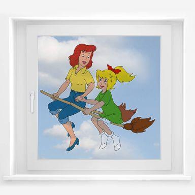 Fensterbild Bibi & Barbara fliegen